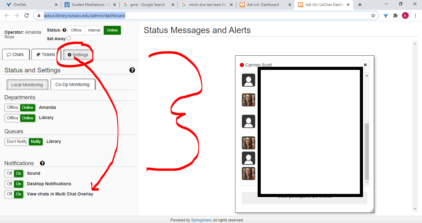 multi chat overlay