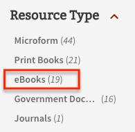 ebooks facet