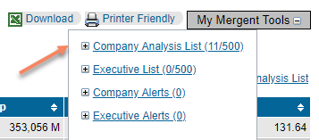 added to company analysis list