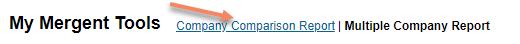 change to company comparison report