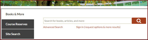 catalog search box on front page