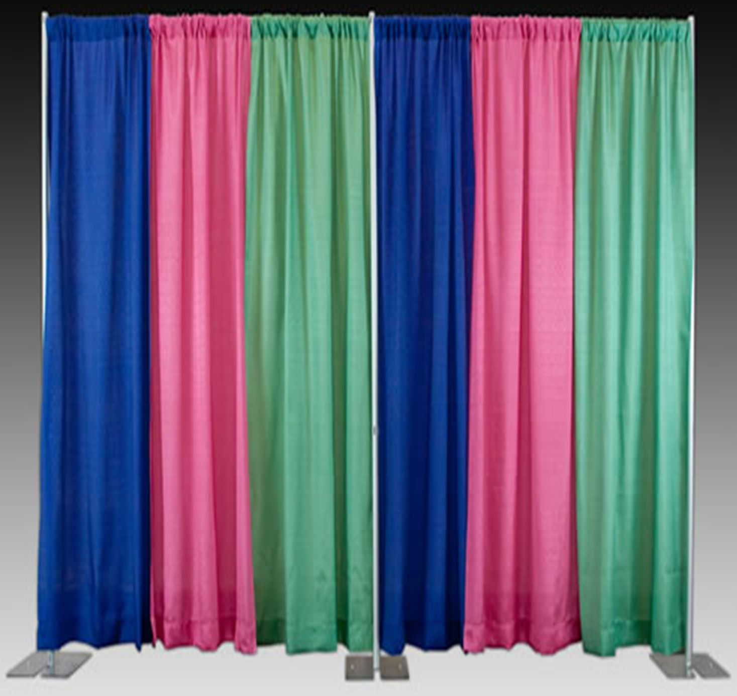drapes in three colors