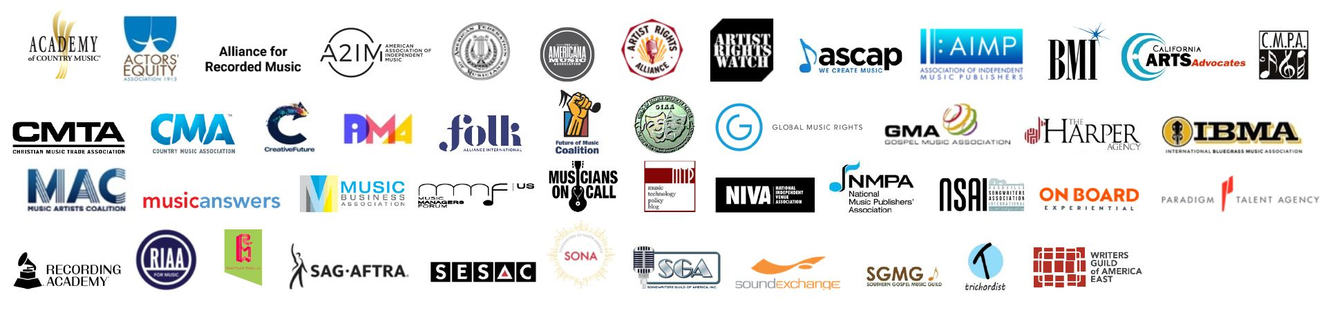 logos for music organizations