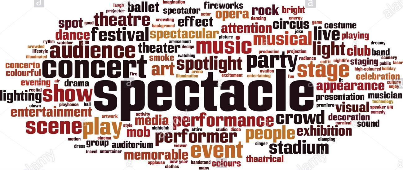 word cloud - spectacle