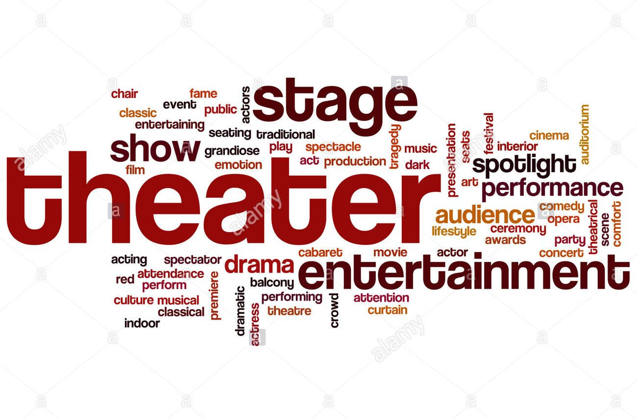 word cloud - theater