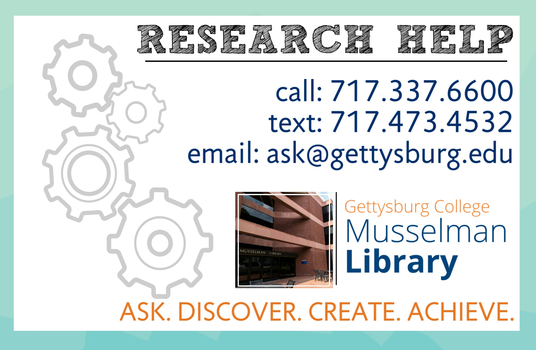 Research Help Desk Contact Information