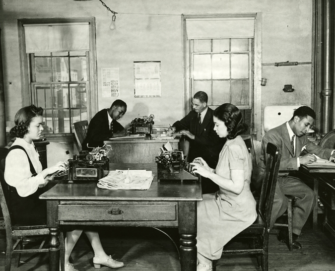 Negro Newspaper Office in Newark from the collection of the New Jersey State Archives