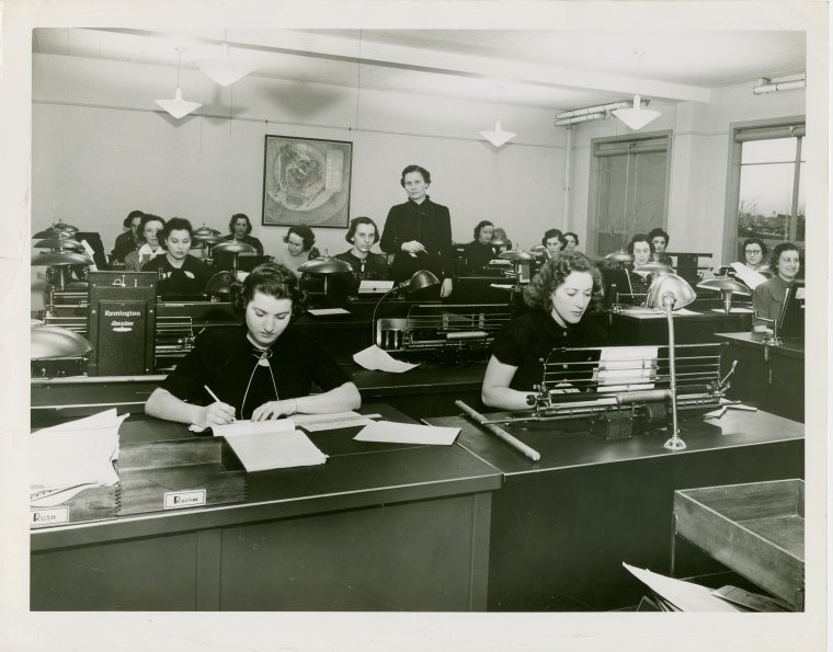 Secretarial pool from the collection of the New York Public Library