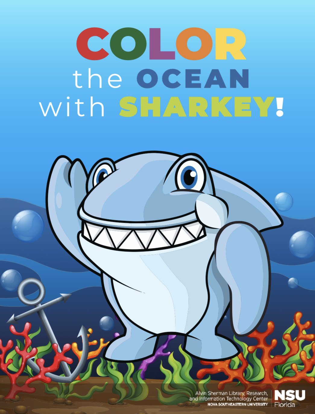 Sharkey coloring book