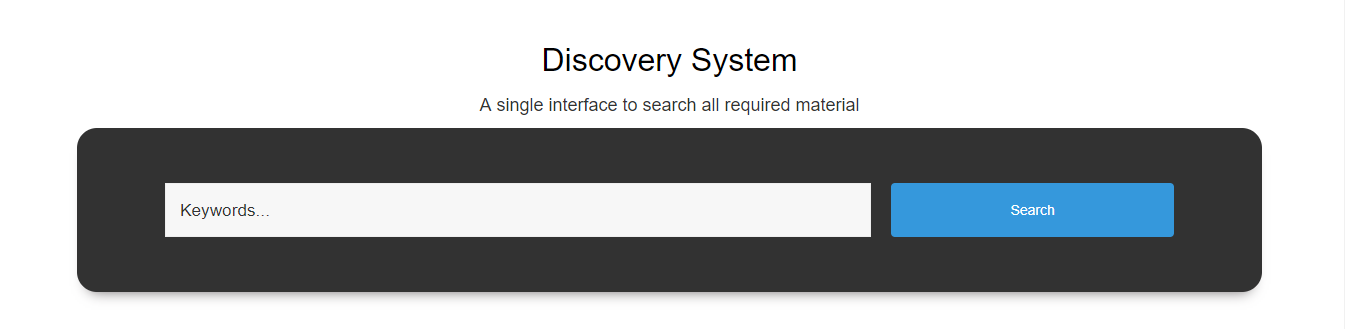 Discovery services bring Wide range of collection Coverage of all databases Articles and Books Strong searches Search by Title, Author, publisher, Subject and Keyword. Filter your information within seconds Accuracy in results