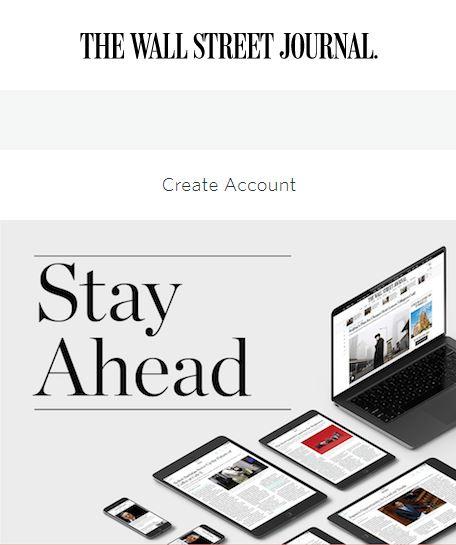 create account wall street journal