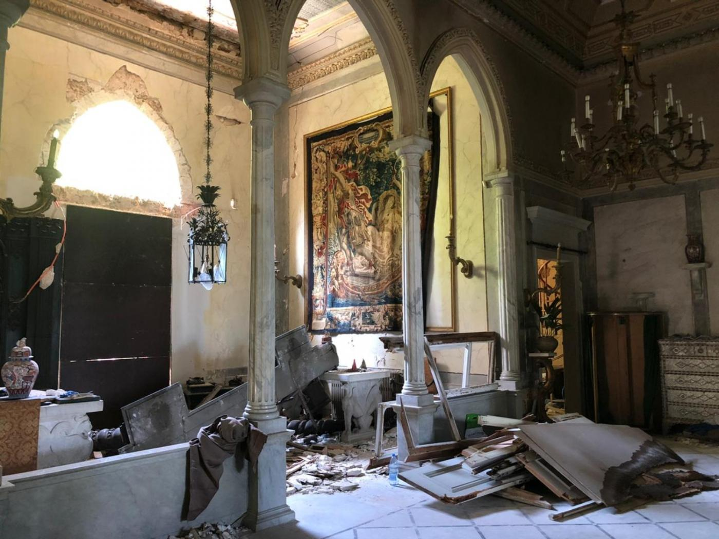 Sursock Museum heavily damaged during the Beritu blast on August 4, 2020