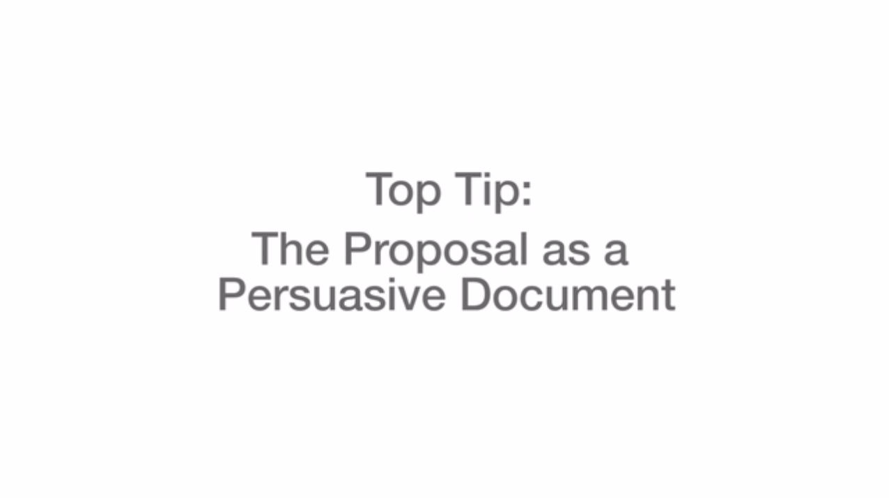 The Proposal as a Persuasive Document Video