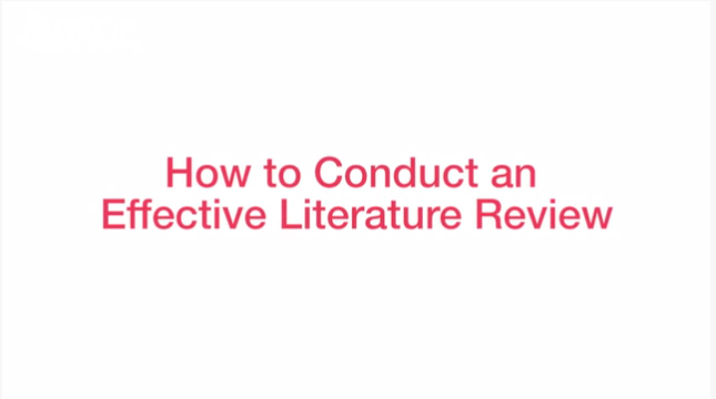 How to conduct an effective literature review