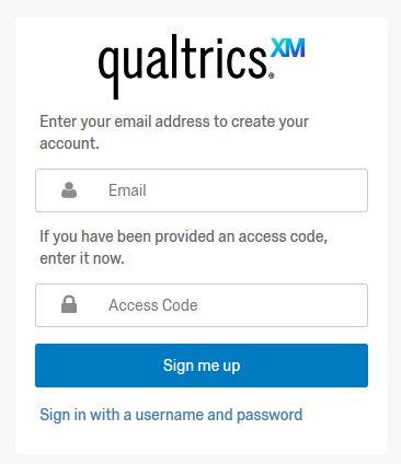 Qualtrics sign-up image