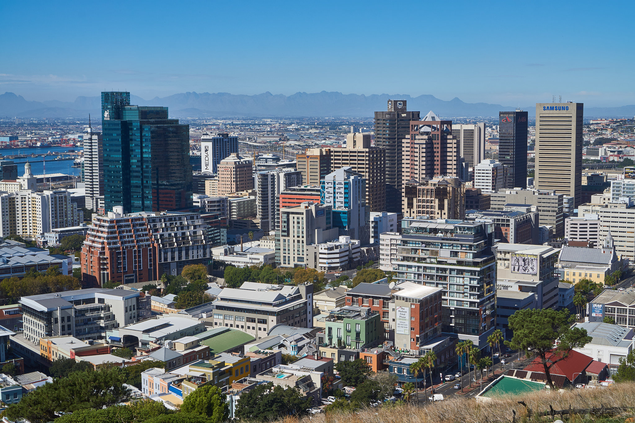 Cape Town CBD, photograph with panoramic view of city center buildings by Jarrett Stewart