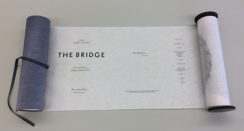 Hart Crane's poem The Bridge published in scroll format in 2017