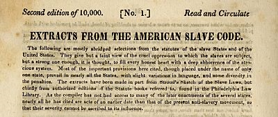 scan of page 1 of anti-slavery tract
