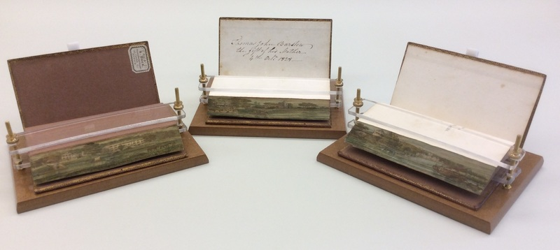 Set of books decorated with fore-edge paintings
