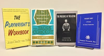 photo of group of books about the performing arts