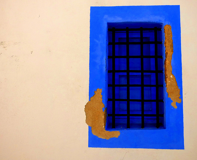 Spanish blue window