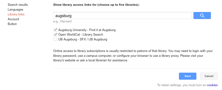 Google Scholar Augsburg find it