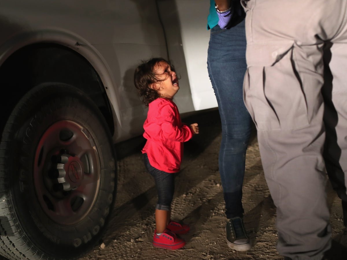 Crying Toddler on the  US Border