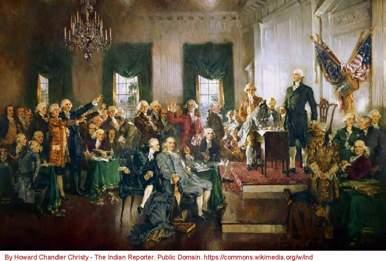 Howard Chandler Christy's Depiction of the Signing of the Constitution
