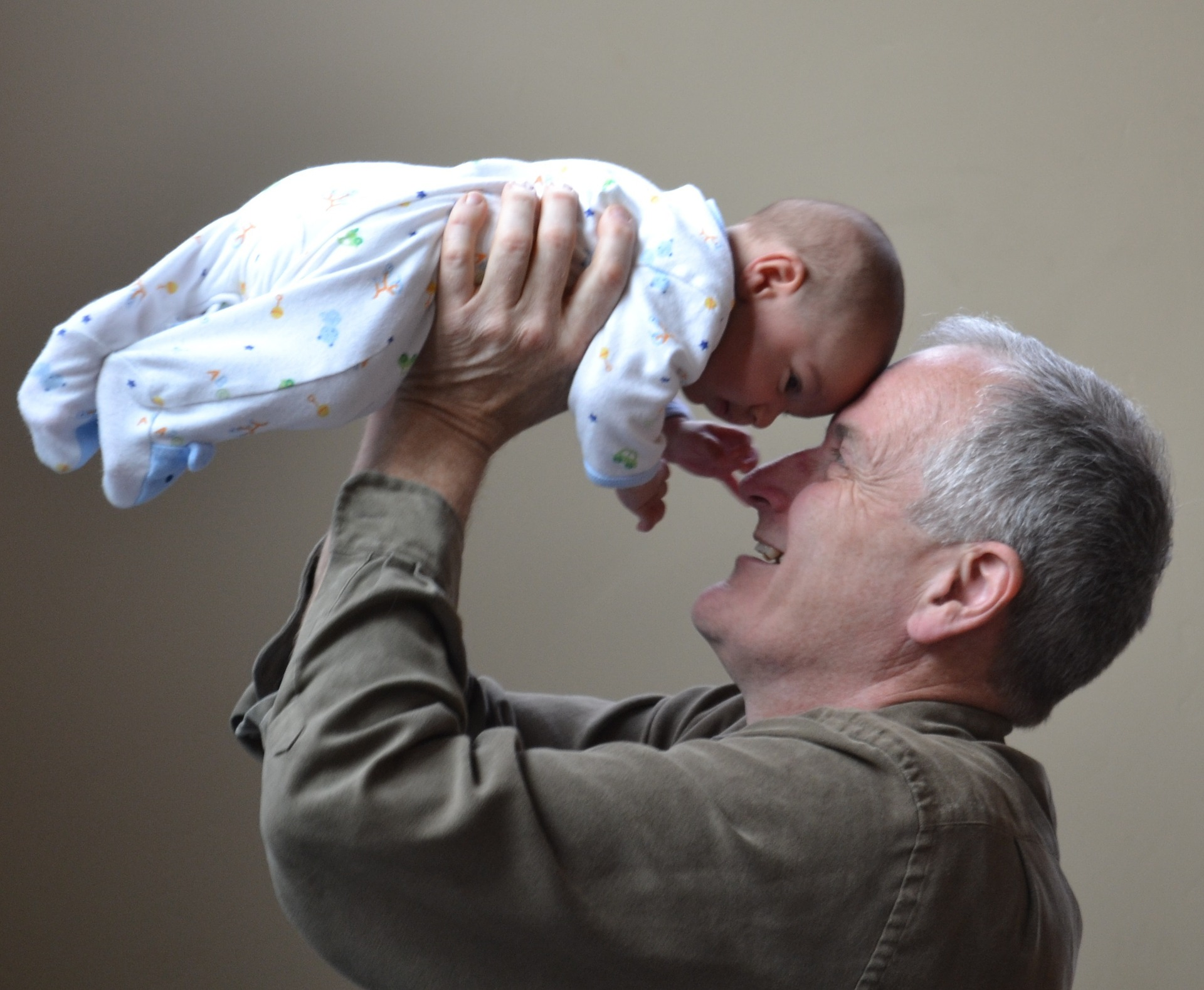 baby with grandfather