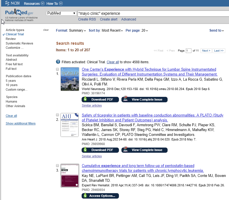 PubMed interface with Nomad Plugin active