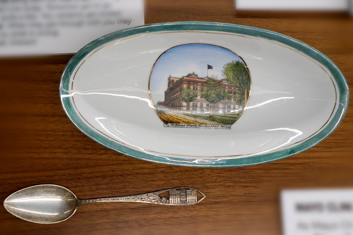 Souvenir dish and spoon