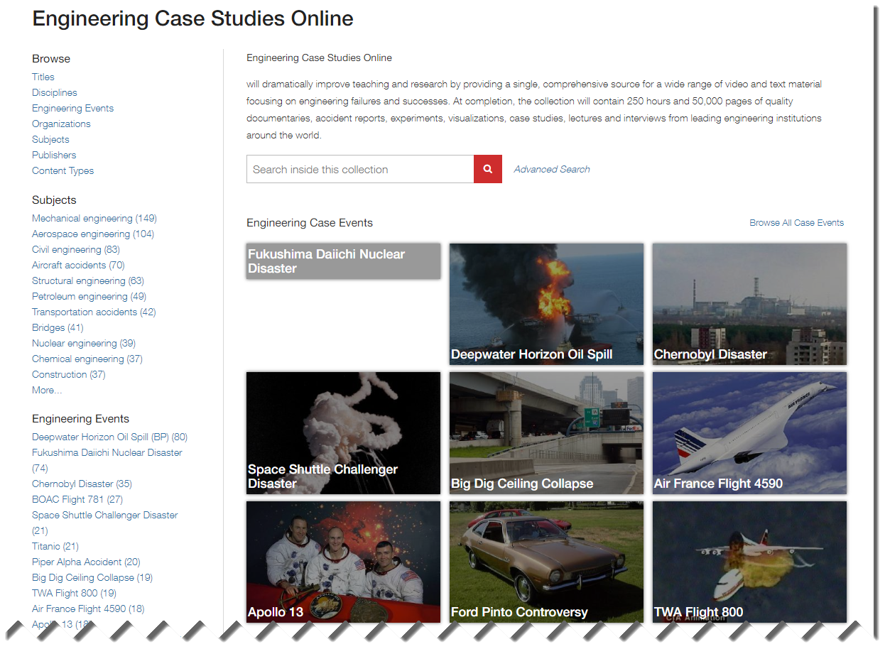 Image of Engineering Case Studies Online product page