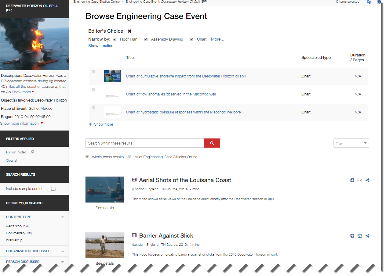 Image of Browse Engineering Event Deep Water Horizon Oil Spill