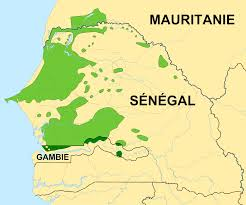 Map of Wolof speaker: Sengal, mauritania, Gambia
