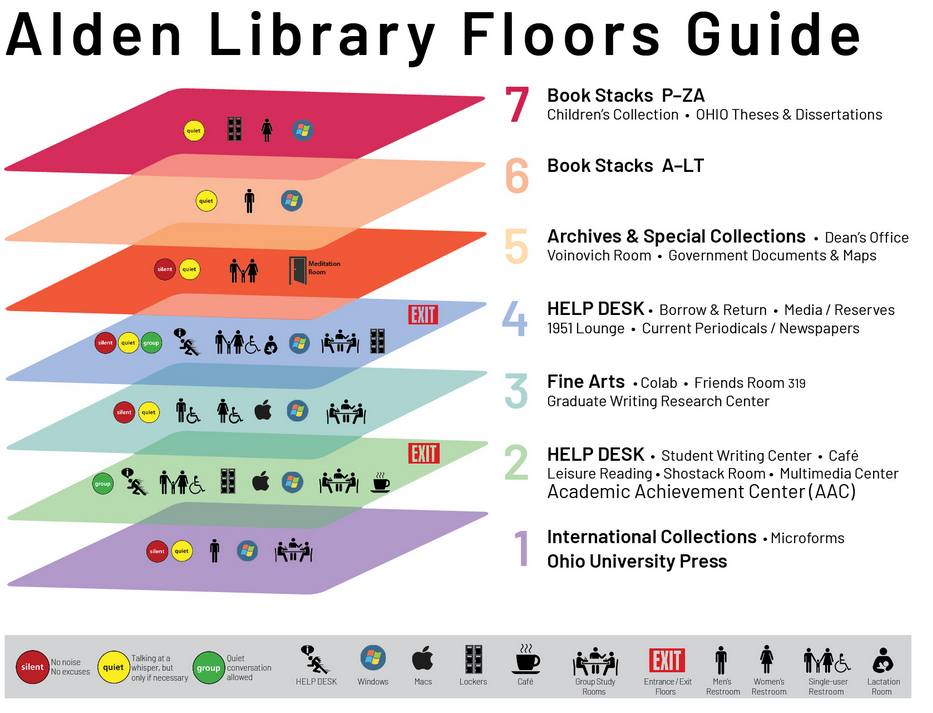 Alden Library Floor Plan and Guide