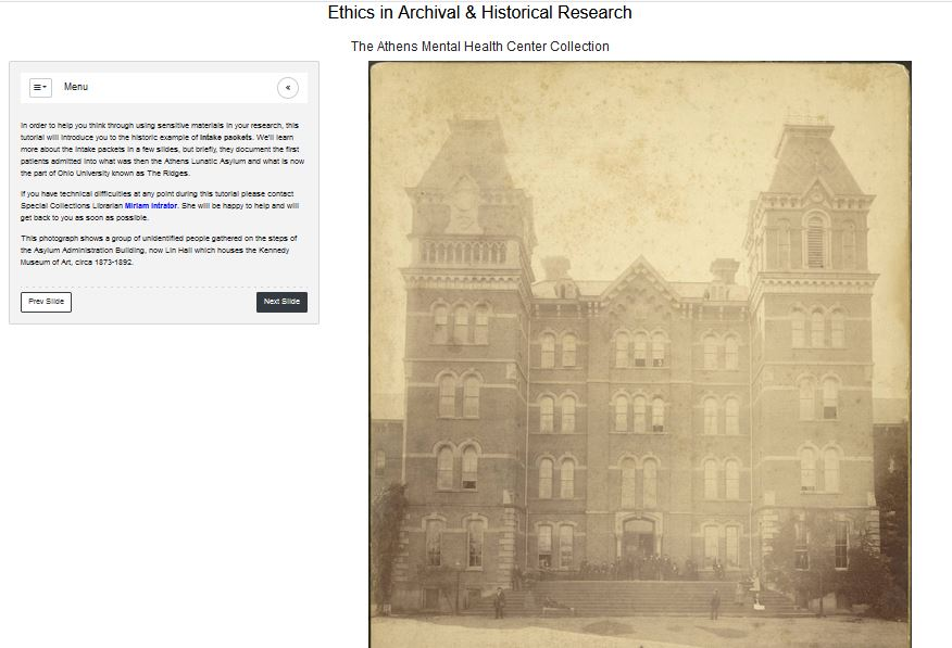 image of ethics in archival and historical research tutorial - link to connect