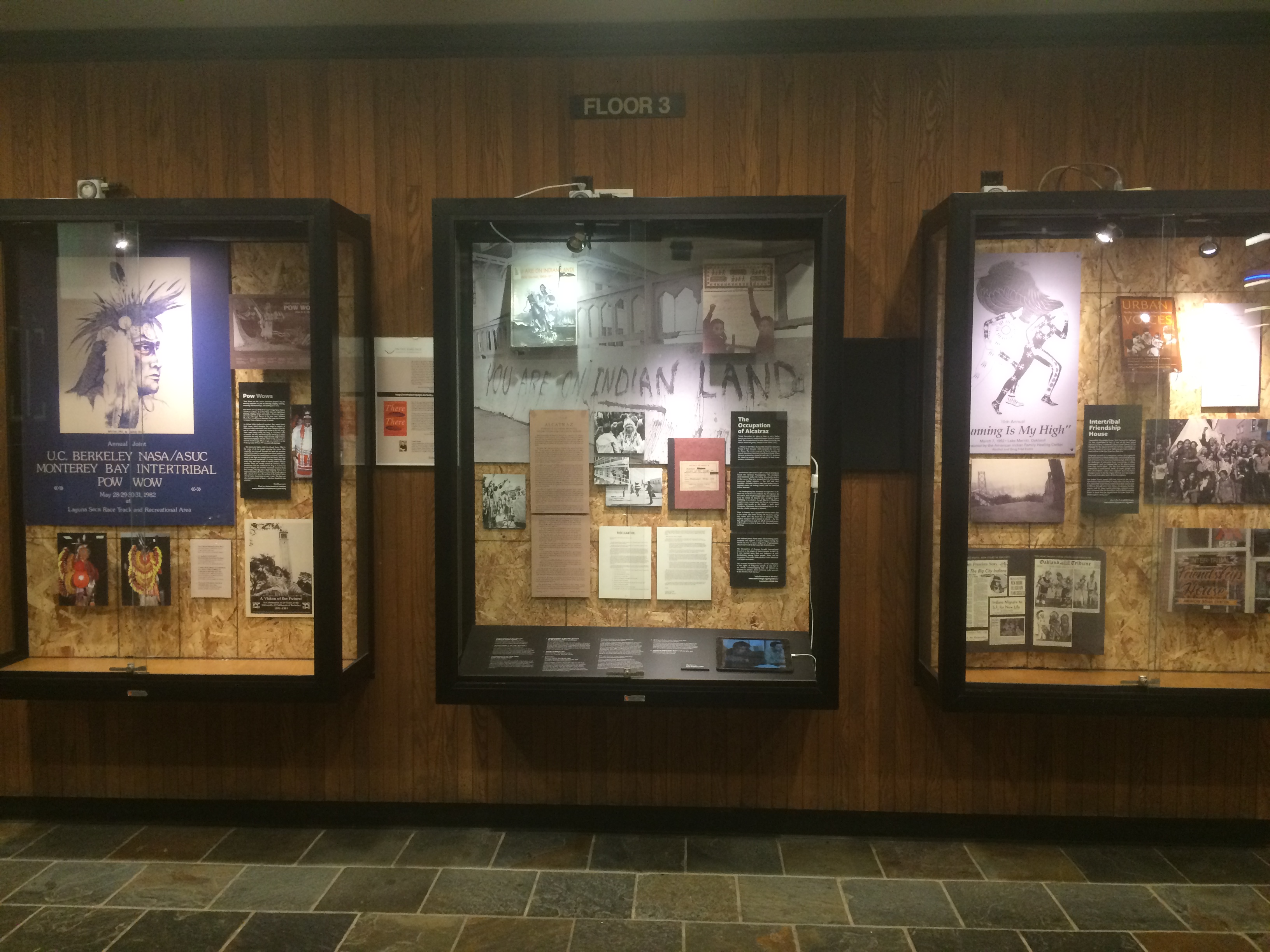 "Moffitt Library ""There There"" exhibit"
