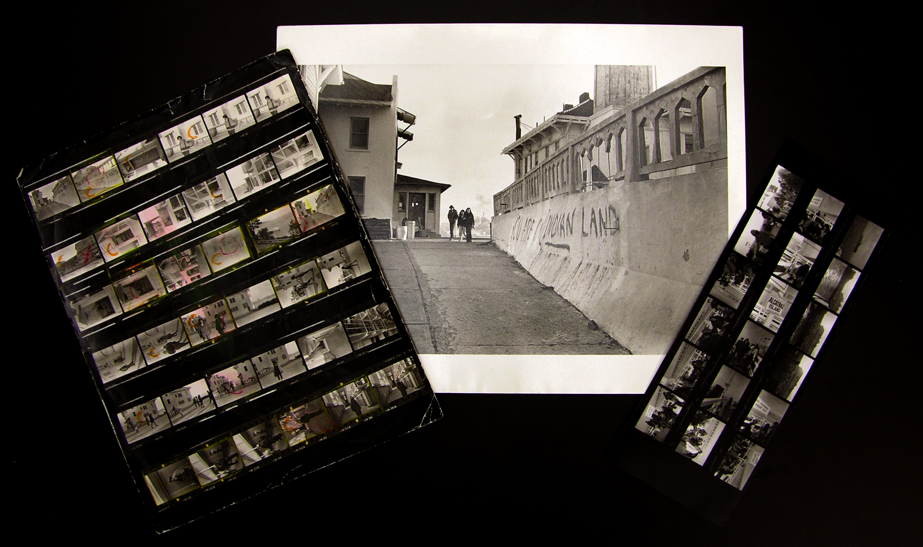 Contact sheets of the Alcatraz Occupation