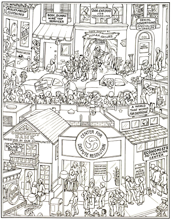 A coloring page from the SCPC coloring book