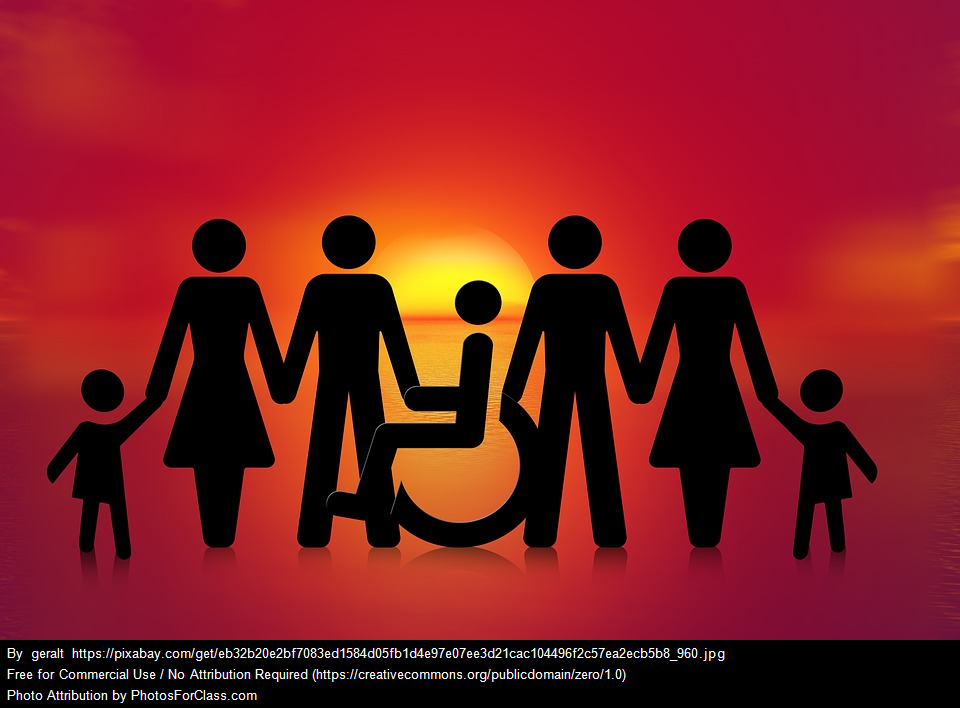 icon of diverse persons, including a person in a wheelchair