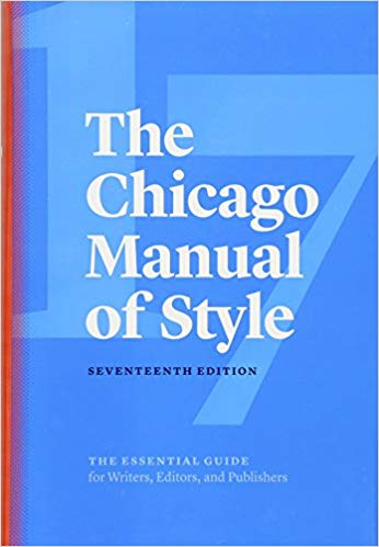 Chicago Manual of Style, 17th edition, book cover
