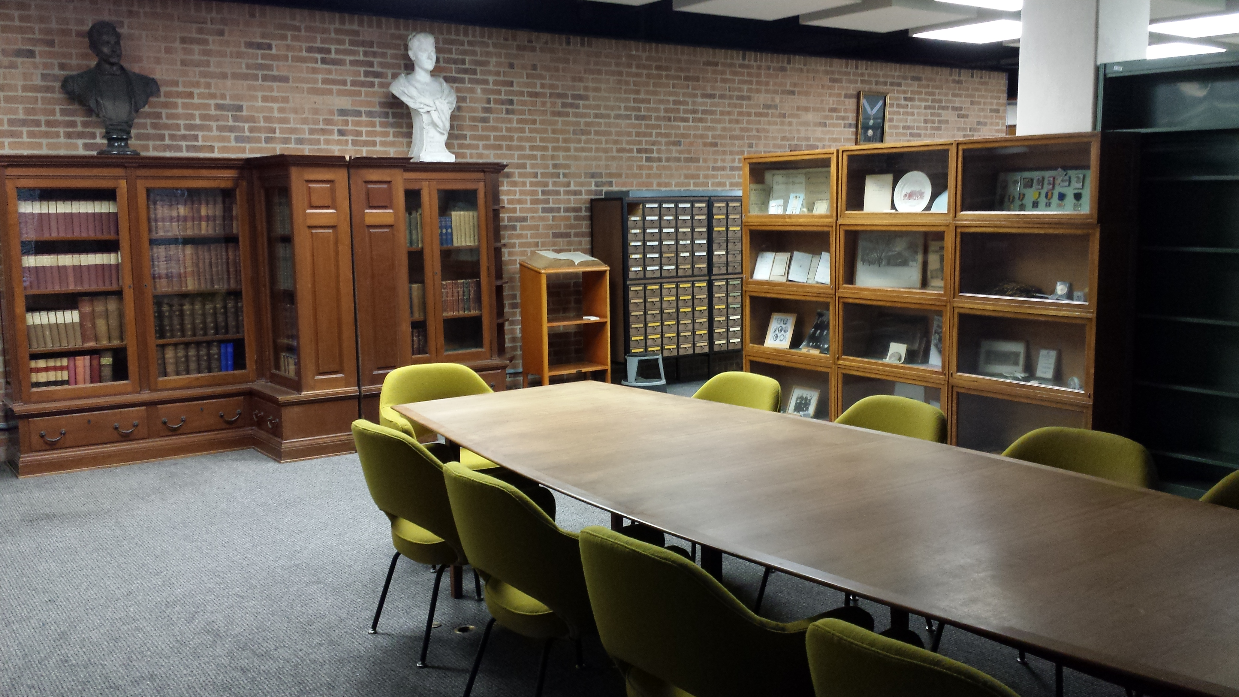 photo of Special Collections room on the 3rd Floor, Blume Library