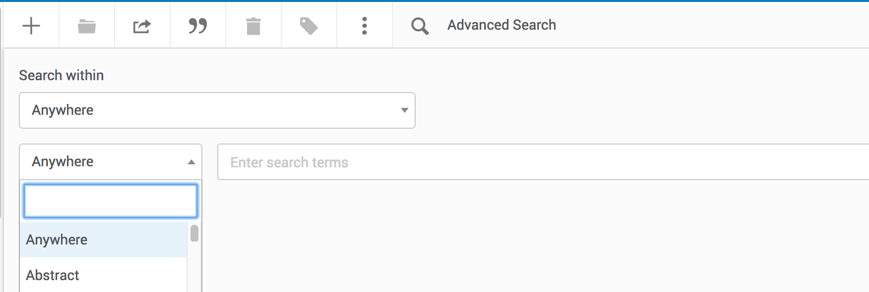 Add a search term