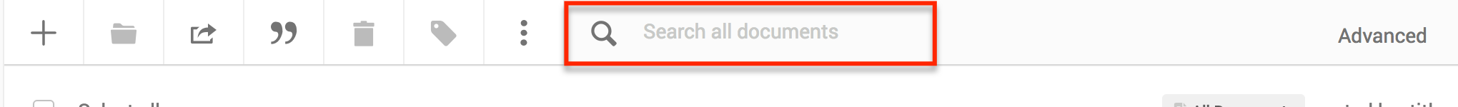 search your folders and documents by going to the magnifying glass