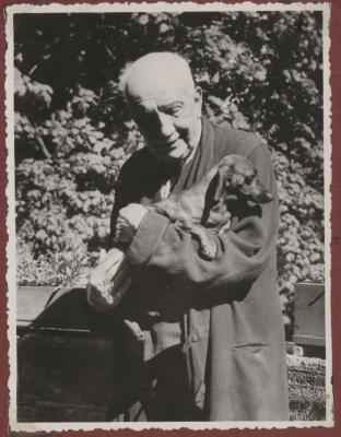 Richard Strauss with Sissy the Dachshund