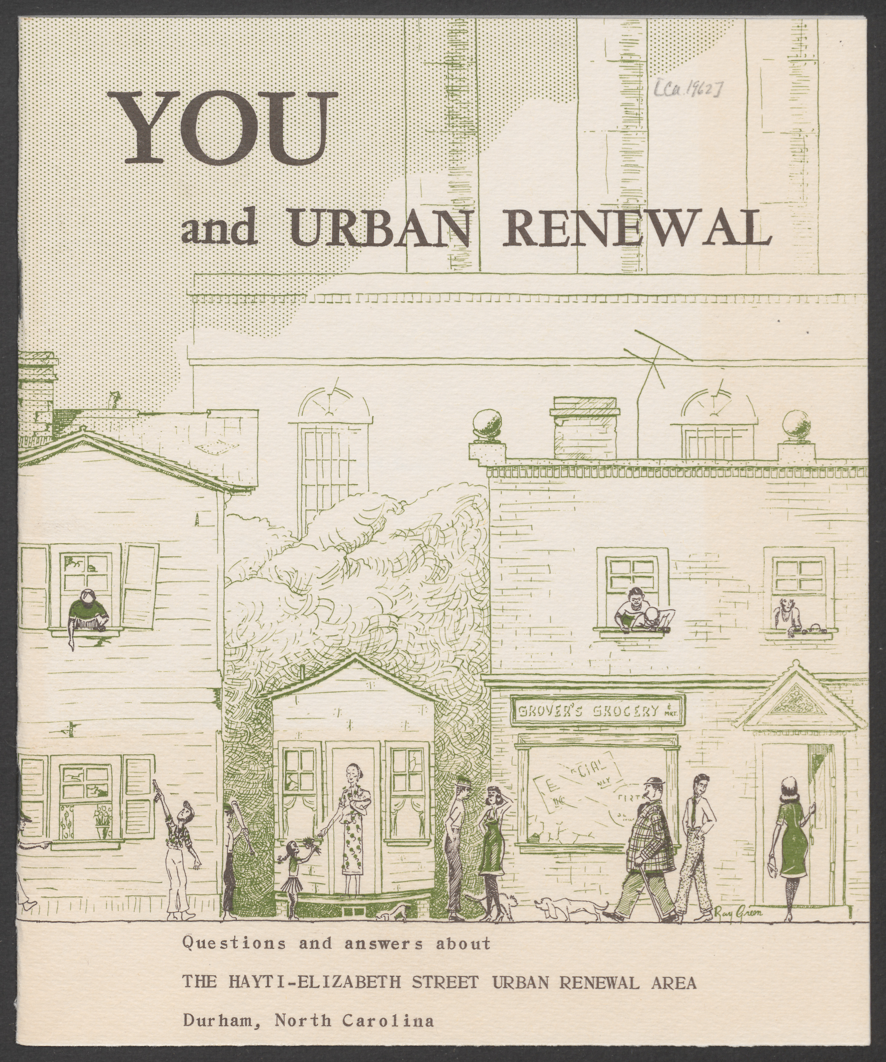 """Cover of a pamphlet """"You and Urban Renewal"""""""