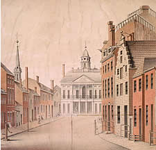 A View of the Federal Hall of the City of New York, as Appeared in the Year 1797.