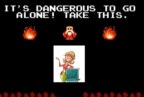 Zelda danger screen
