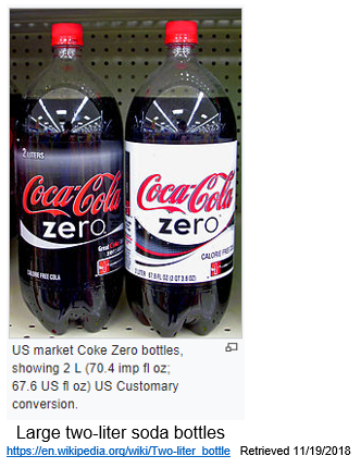 The image is of two 2 liter bottles of soda.