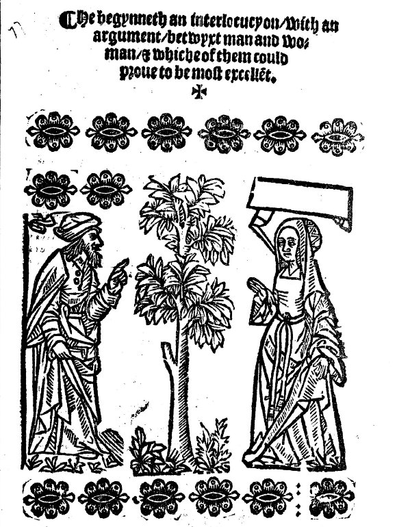 frontispice of a 1468 book by Guillaume Alexis